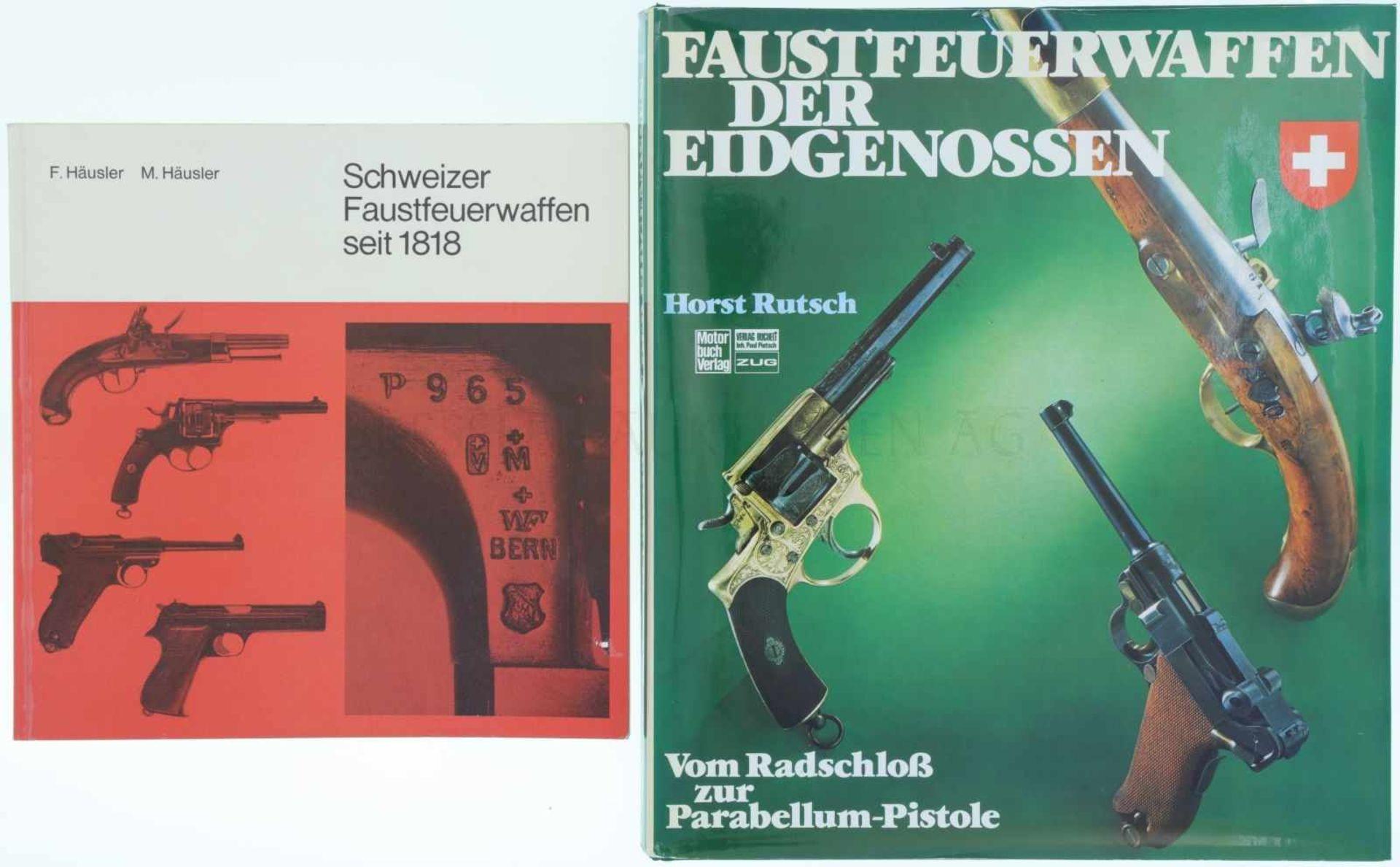 """Konvolut von 2 Büchern """"Schweizer Faustfeuerwaffen"""" 1. Schweizer Faustfeuerwaffen seit 1818, Autoren"""