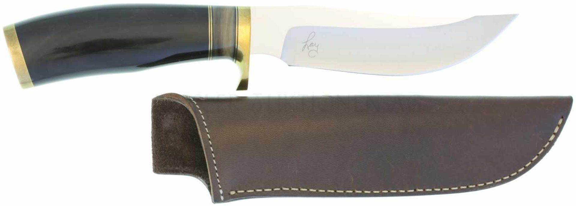 Traditional Skinner Bob Lay KL 133mm, TL 250mm, polierte geschweifte Rückenklinge, linksseitig