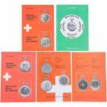 5 Bände Historische Uhren der Schweiz/Schützenuhren 1. Band 1, Schützenuhren von 1836-1939. 2.
