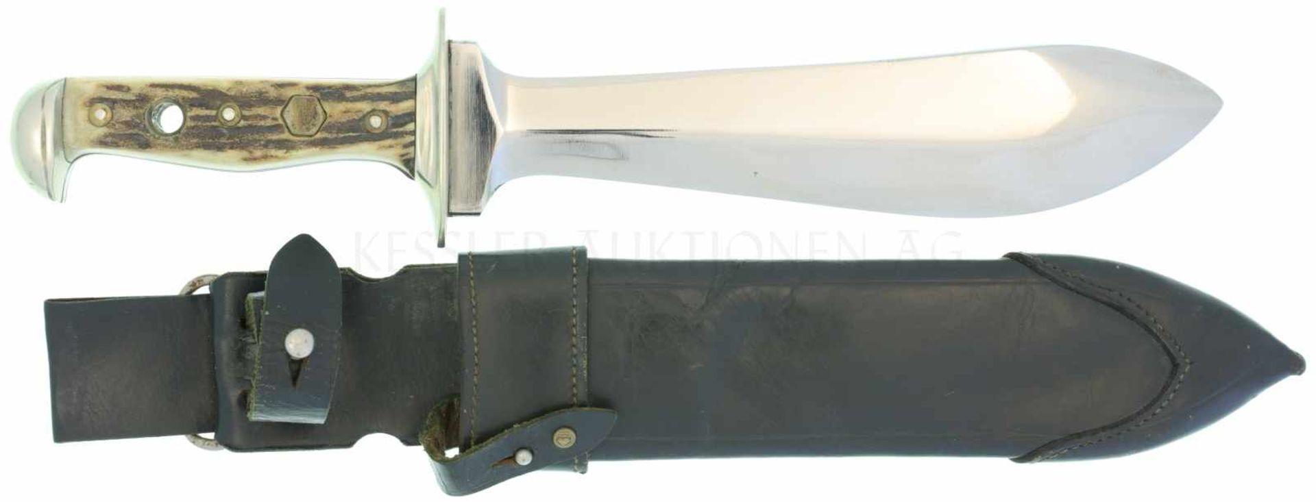 Los 3 - Puma Waidblatt KL 213mm, TL 328mm, schwere Klinge, volle Wurzel, Parierstange und Knauf aus