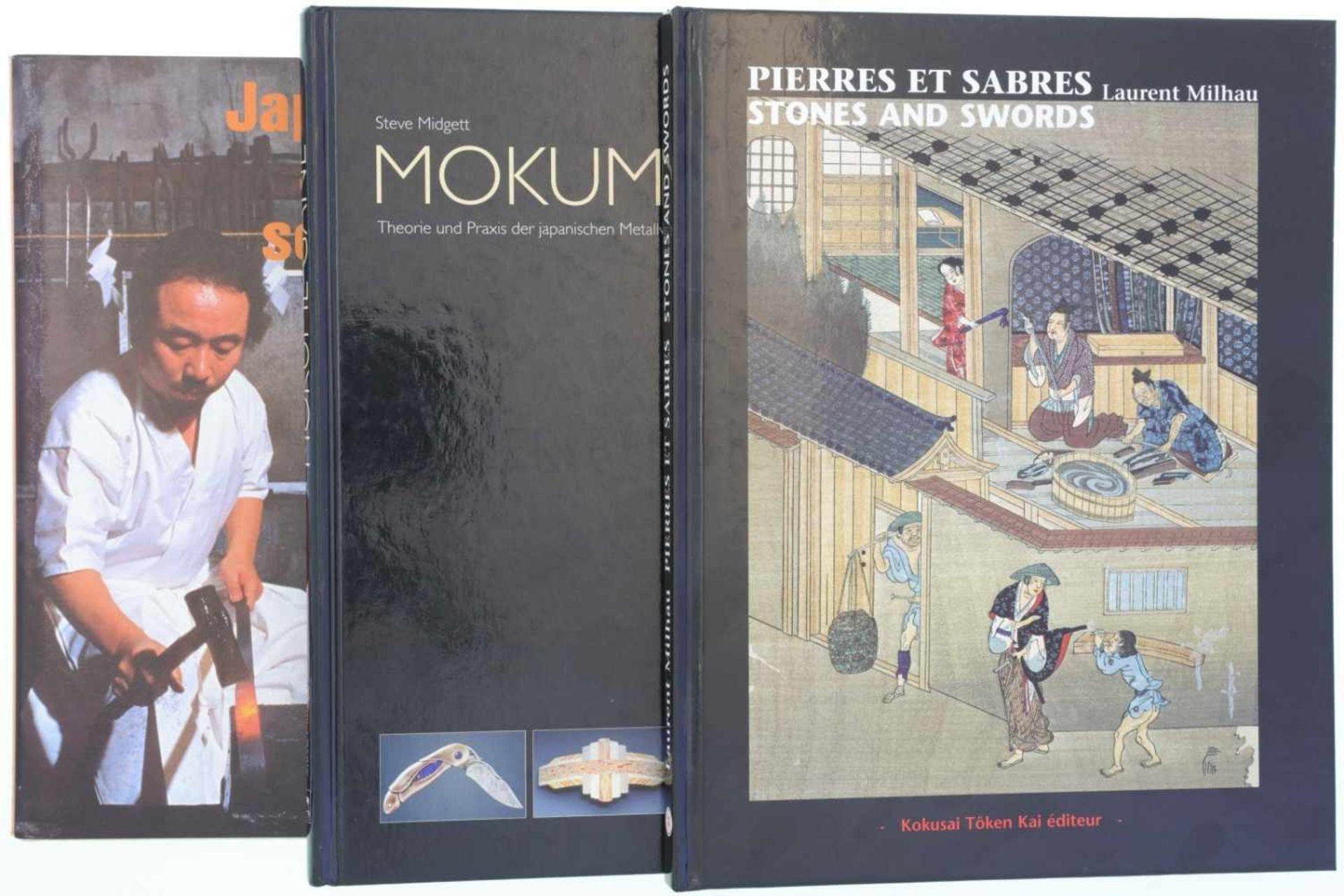 Konvolut von 3 Büchern über japanische Schmiedetechnik 1. Japanische Schwertschmiedekunst, Ordonnanz