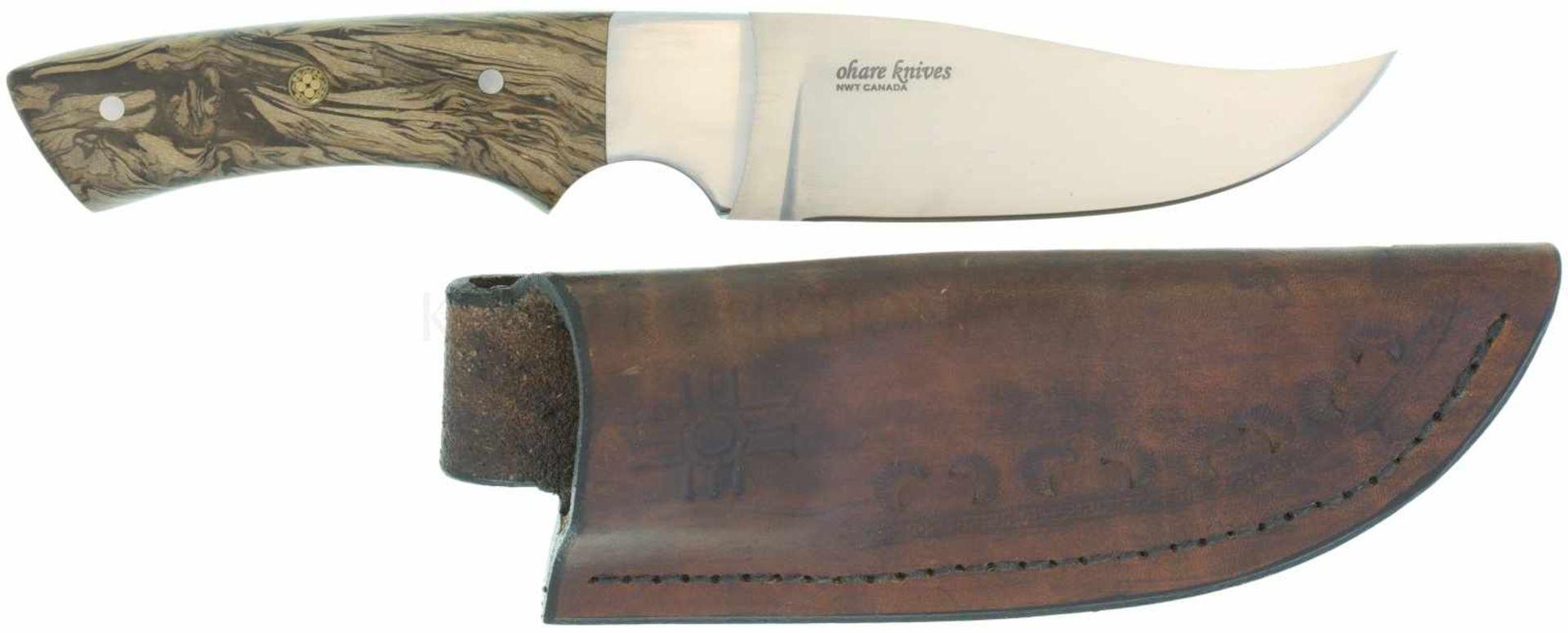 Skinner O'Hare Canada, Mod Whiskeyjack KL 106mm, TL 227mm, Klinge aus CPM154CM-Stahl, Edelstahl-