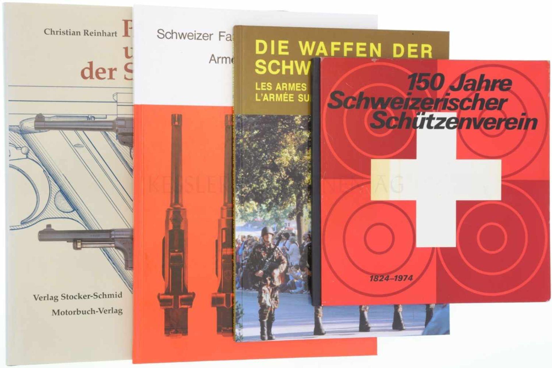 Konvolut von 4 Büchern 1. 150 Jahre Schweizerischer Schützenverein, 1824-1974. 2. Die Waffen der