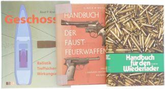 Konvolut von 3 Büchern 1. Handbuch für den Wiederlader, Autor K.D. Meyer, Journal Verlag Schwend