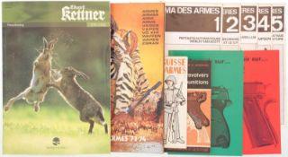 Konvolut von 11 Broschüren 1. La Suisse en Armes, Noel du Soldat, 1940. 2. Les pistolets, les