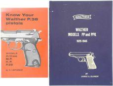 Konvolut von 2 Waltherbücher 1. Know Your Walther P.38 pistols, by E.J. Hoffschmidt. In englischer