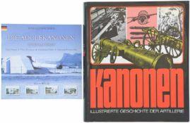 Konvolut von 2 Büchern 1. Die Adolfkanonen in den Batterien, Autor Harald Isachsen, Vagsfjord