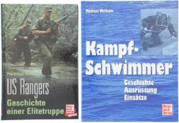 Konvolut von 2 Büchern 1. US Rangers, Geschichte einer Elitetruppe, Autor Hartmut Schauer, Motorbuch