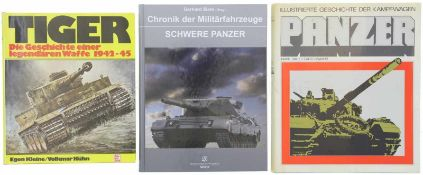 """Konvolut von 3 Büchern """"Panzer"""" 1. TIGER, Die Geschichte einer legendären Waffe 1942-45, Autoren"""