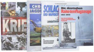 Konvolut von 4 Büchern 1. Die deutschen Raketenflugzeuge 1935-1945, Die Entwicklung einer