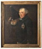 """Gemälde - nach Johann H.C. Franke (1738 Havelberg - 1792 Berlin) """"Portrait König Friedrich II. von"""