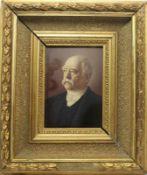 """Gemälde - deutsch nach 1900 """"Bildnis Otto von Bismarck"""", anonymer Künstler, Öl auf Holz, Maße ca."""