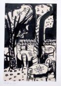 """Aquarell - Otto Sammer (1914 Schwabach - 2004 Passau) """"Cafe"""", r.u. Bleistiftmonogramm, datiert 51,"""