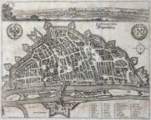 Kupferstich - Matthäus Merian (1593 Basel - 1650 Langenschwalbach) und Wenzel Hollar (1607 Prag -