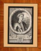 """Kupferstich - Frankreich 18.Jahrhundert """"Bildnis Charles VII, König von Frankreich"""", gest. von"""
