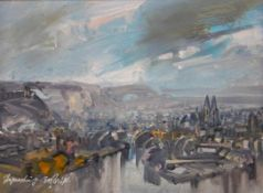 "Gemälde - Rupert Preissl (1925 Eitlbrunn bei Regensburg - 2003) ""Regensburg"", l.u. signiert, Öl"