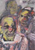 """Mischtechnik- Rupert Preissl (1925 Eitlbrunn bei Regensburg - 2003) """"Clowns"""", l.u. signiert,"""