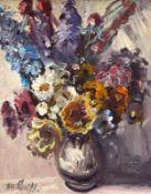 "Gemälde - Rupert Preissl (1925 Eitlbrunn bei Regensburg - 2003) ""Blumenstillleben"", l.u. signiert,"