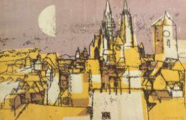 "Serigraphie - Willi Ulfig (1910 Breslau - 4.2.1983 Regensburg) ""Regensburg"", r.u. signiert,"