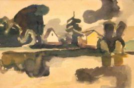 "Aquarell - Willi Ulfig (1910 Breslau - 1983 Regensburg) ""Landschaft"", r.u. signiert, um 1950/60,"