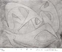 """Radierung - Seff WEIDL (1915 Eger -1972 Inning am Ammersee) """"Drei Figuren"""", r.u."""