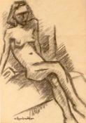 """Zeichnung - Maximilian von Markreither (1899 Regensburg - 1976) """" Akt """", l.u. Stempelsignatur, Kohle"""
