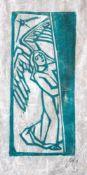 """Linolschnitt - Otto Baumann (Regensburg 1901 - 1992) """"Engel"""", r.u. monogrammiert, Maße Darstellung"""