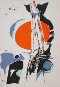 """Serigraphie - Willi Ulfig (1910 Breslau - 4.2.1983 Regensburg) """"Ohne Titel"""", r.u. signiert,"""