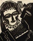 """Probedruck - Josef Achmann (1885 Regensburg - 1958 Schliersee) """"Magdalena in Hebbels Tragödie"""