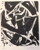 """Lithographie - Heiko Herrmann (1953 Schrobenhausen) """"Ohne Titel"""", r.u. Bleistiftsignatur, datiert"""