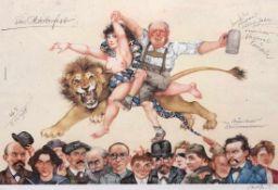 """Plakat - Michael Mathias PRECHTL (1926 Amberg - 2003 Nürnberg) """"Das Oktoberfest"""", r.u."""
