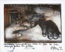 "Gemälde - Wolfgang Grimm (1959 Bad Tölz - 2007 Regensburg) ""Das Logbuch Epilog No. 5"", r.u."