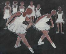 "Mischtechnik - Michael Wagner (1893 Muschenried / Oberpfalz - 1965 München) ""Tanzschule"", r.u."
