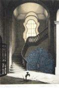 """Radierung - Manfred Sillner (1937 Berlin) """"Begegnung im Treppenhaus"""", r.u. Bleistiftsignatur,"""