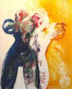 """Gemälde - Cornelius Richter (1944 Egger - 2014 Bad Reichenhall) """"Synaesthesie mit Akten"""", r.u."""