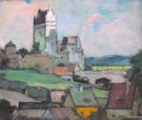 "Gemälde - Max Wissner (1873 Geiersberg/Böhmen - 1959 Regensburg) ""Oberpfälzer Landschaft mit"