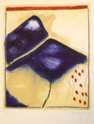 """Farbradierung - Horst Becking (1937 Hagen) """"Aufsteigendes Licht"""", r.u. Bleistiftsignatur, Nr. 10/50,"""