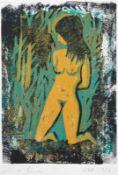 """Holzschnitt - Kurt Moser (1925 Regensburg - 1984 München) """"Akt"""", Bleistiftsignatur, Nr. 3/6,"""