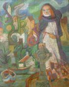"Pastell - Oskar Matulla (1900 - 1982 Wien) "" St. Brigida vor Stadtansicht "", rückseitig signiert und"