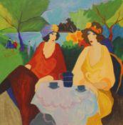 "Serigraphie - Itzchak Tarkay (1935 Subotica - 2012 Detroit) ""Lakeside Cafe"", r.u. Bleistiftsignatur,"