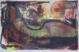 """Farblithographie - Oskar Matulla (1900 - 1982 Wien) """"Liegender Akt"""", r.u. Bleistiftsignatur, Maße"""
