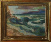 "Pastell - Oskar Matulla (1900 - 1982 Wien) "" Küstenlandschaft "", auf Papier, unsigniert, Maße ca."