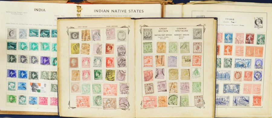 Lot 32 - A selection of International stamps and albums tog