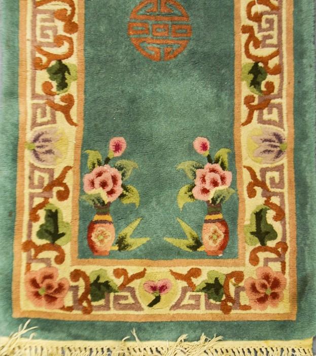 Lot 295 - Three Persian style woolen rugs (3)