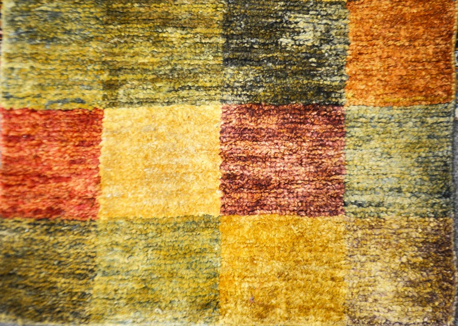 Lot 323a - A John Lewis jute rug, chequared pattern 150cm x 90cm. together with a picture frame 75cm x 35 cm(2)