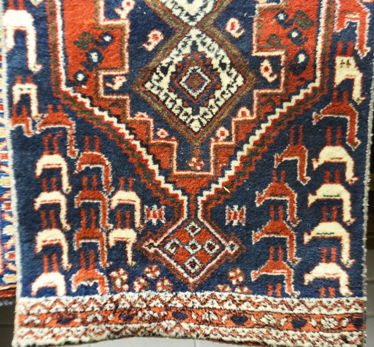 Lot 290 - A Caucasian terracotta prayer rug