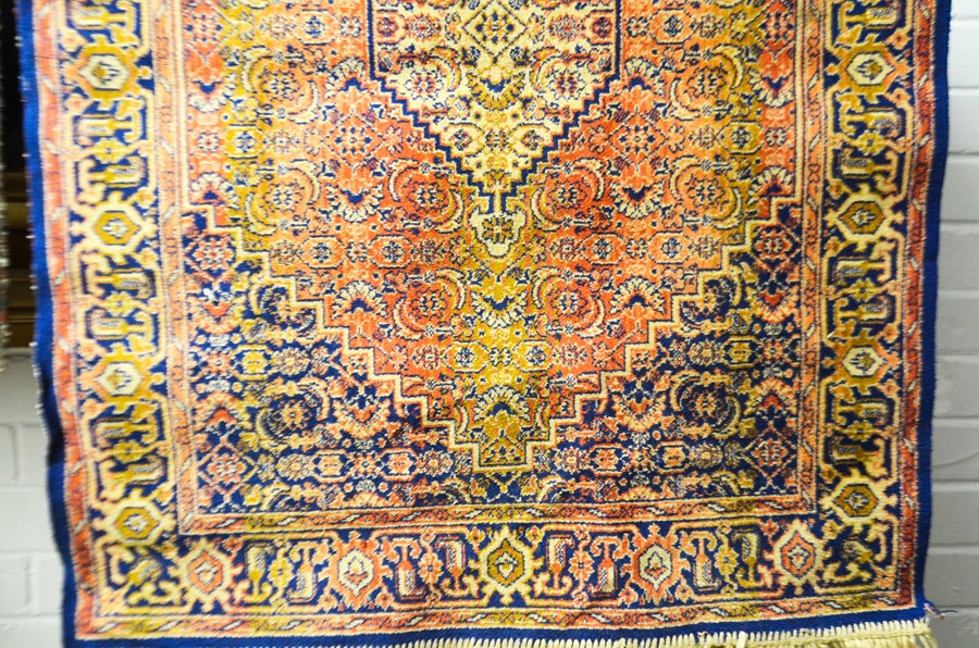 Lot 291 - A small Persian style cotton and silk mat