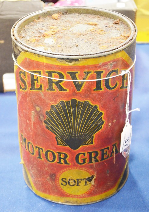 Lot 37 - A Service motor grease tin container