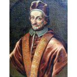 Porträt des Papstes Innozens XI. (1611 - 1689)Öl/Leinwand. Unsigniert, in Plakette fälschlich als