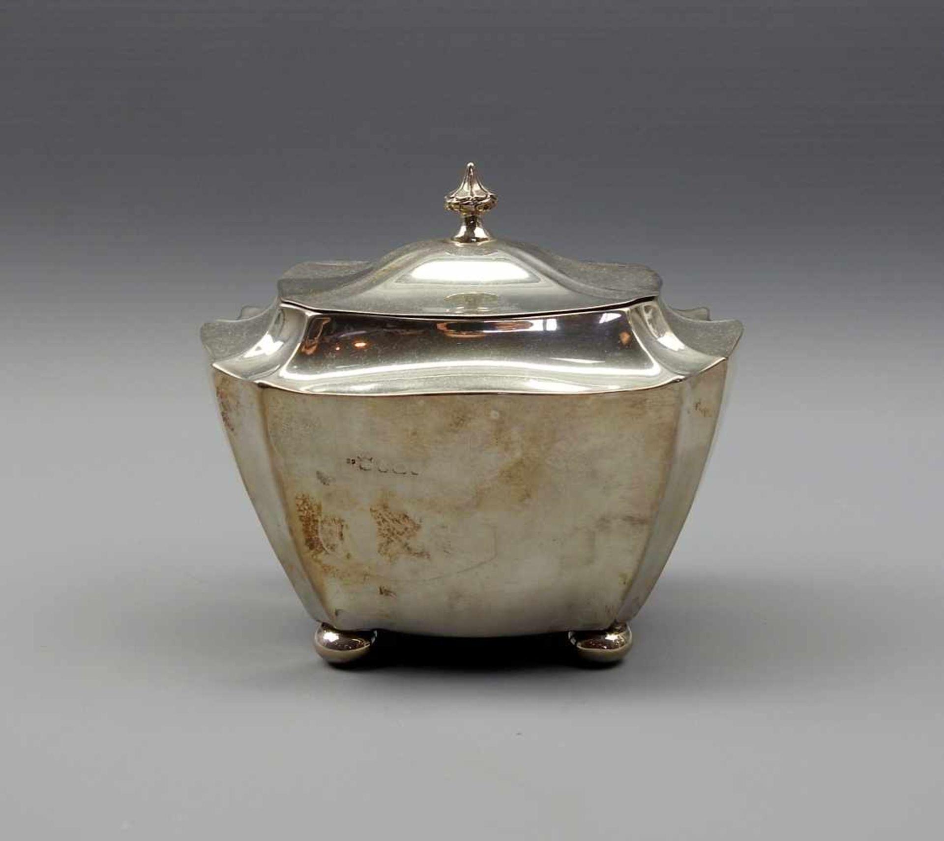 Los 24 - Edle TeedoseSterling Silber 925, am Boden und im Deckelinneren mit Kontrollnummer 22, Marke des